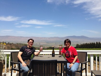 Dersky and myself wine tasting